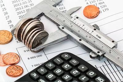 Moedas e calculadora