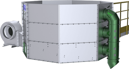 Secador de café vertical